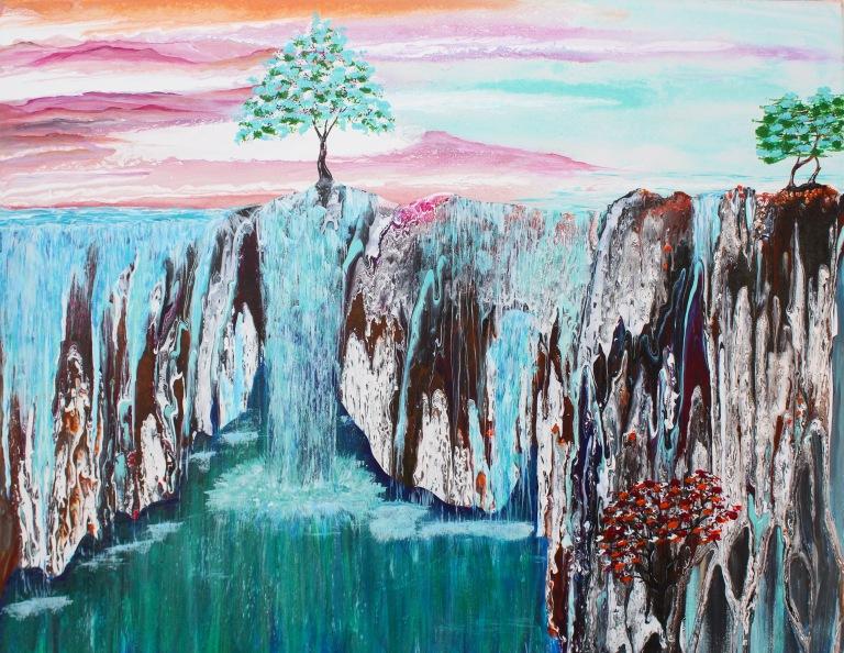 single-tree-waterfall